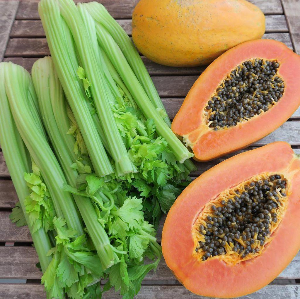 Bild zu Mono Eating - Papaya und Sellerie